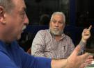 Emilio Menéndez, Carlos Taibo e Braulio Amaro. Conversa en Laxe