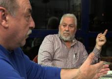 Emilio Menéndez, Carlos Taibo y Braulio Amaro. Conversación en Laxe